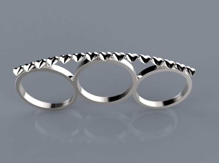 Love Punch Ring 3d printed RENDER
