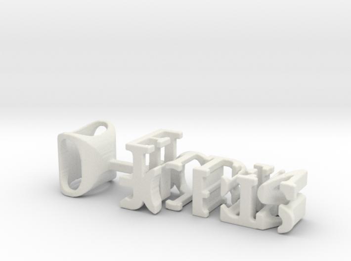 3dWordFlip: 0-Joris/O-Ellen 3d printed