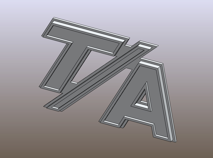 TA Badge Final 3d printed Challenger T/A bdge