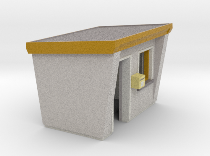 Concrete bus shelter (N 1:160) 3d printed