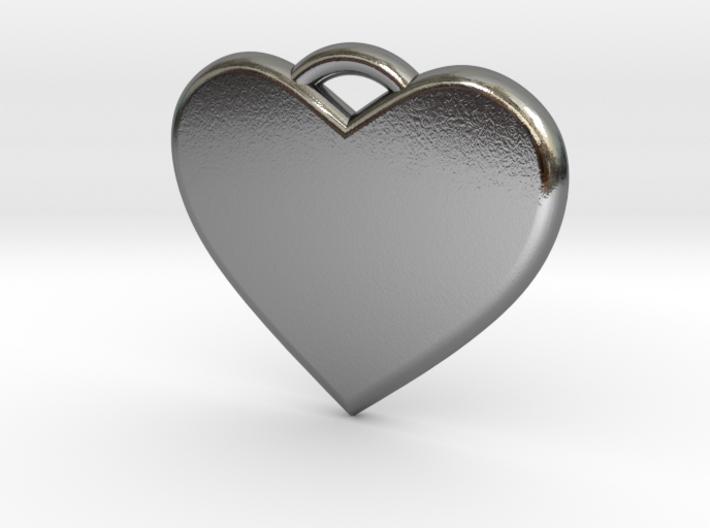 Text Engravable Heart Pendant 3 - Single Line 3d printed