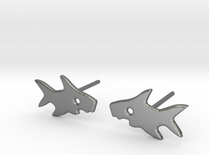 Shark Earring 3d printed