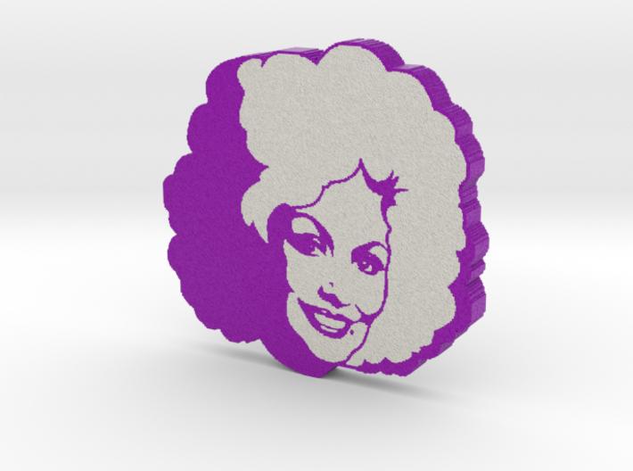 Dolly Parton in Indigo 3d printed