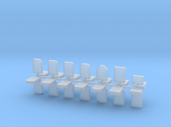 Grabsteine 28er Set 1:100 3d printed