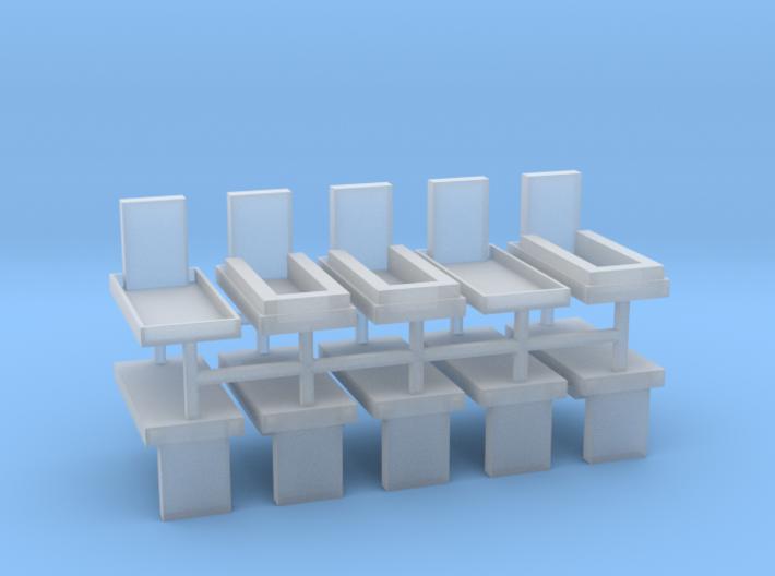 Gräber Set2 10erSet - 1:100 3d printed
