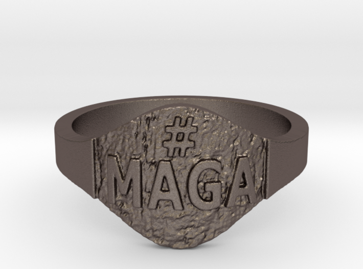 Maga Hashtag Ring 3d printed