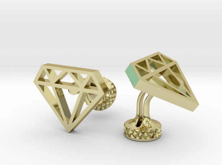 Nastasha Diamond Cufflinks 3d printed