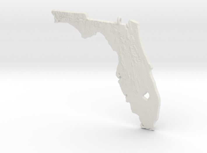 Florida Christmas Ornament 3d printed