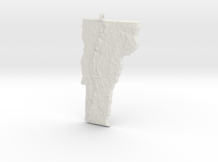 Vermont Christmas Ornament 3d printed