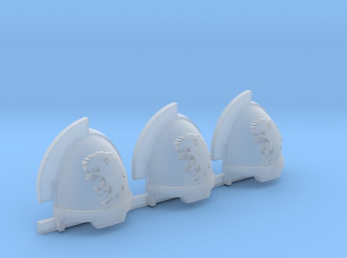 Commission 8 Gravus shoulder pads x3 3d printed