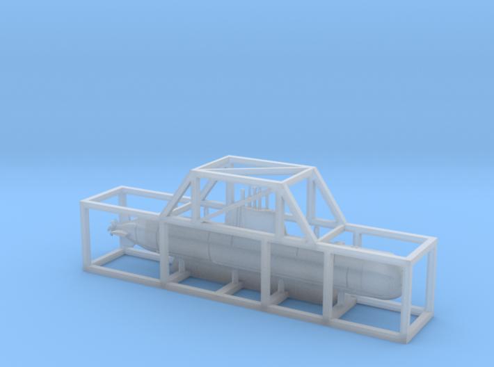 1/1250 Type 214 submarine 3d printed