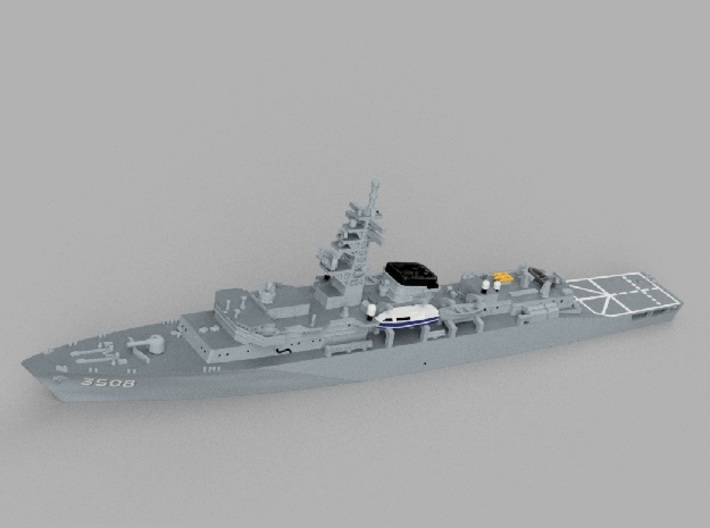 1/1250 Training ship JS Kashima 3d printed Computer software render.The actual model is not full color.