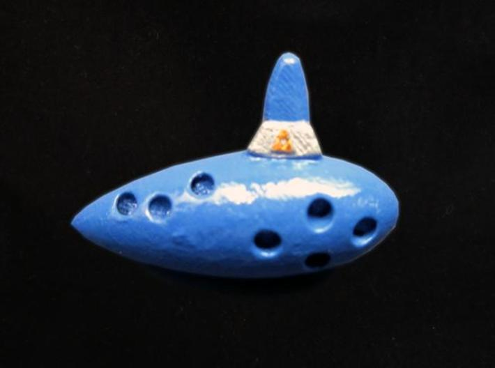 Ocarina 3d printed Painted Frosted Ultra Detail