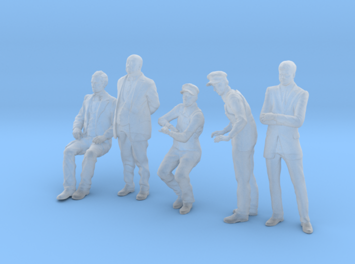 HO figures 5 Pack Abe, Albert, Pippin and JFK 3d printed