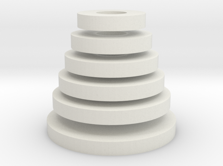 Tower of Hanoi (disks) 3d printed