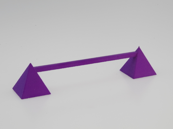 Knife rest & Cutlery rest pyramid 3d printed