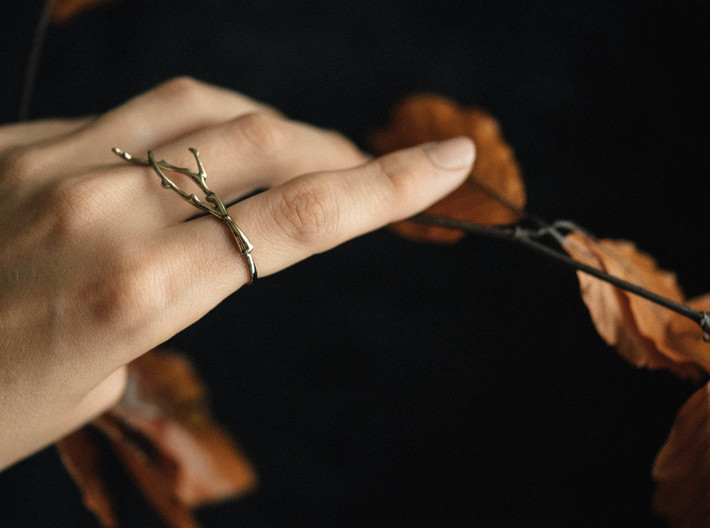 Branch Ring 3d printed