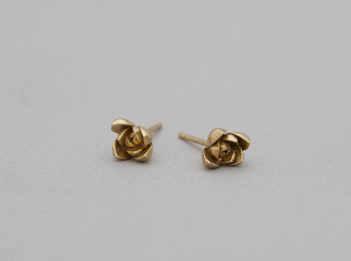 Succulent No. 1 Stud Earrings 3d printed