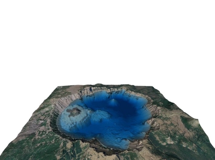 Crater Lake Bathymetry Map 3d printed