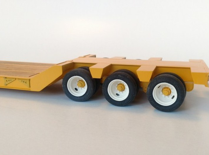 Three Axle Lowboy Suspension Frame 3d printed