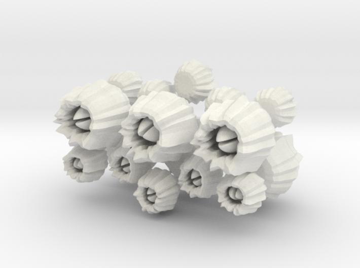 Barnacles, set of 16 3d printed