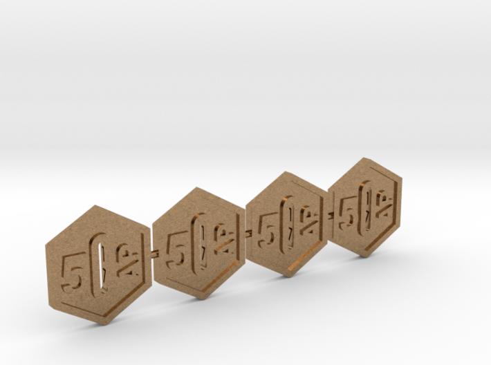 SOL Token 5AP, Set of 4 3d printed