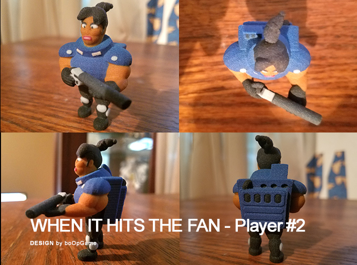 """""""When It Hits The Fan"""" Retrogame - Player #2 3d printed """"When It Hits The Fan"""" Retrogame - Player #2"""
