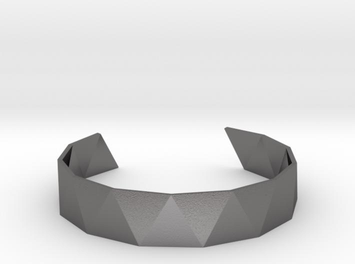 Triangle Facet Bracelet Sizes XS-XL 3d printed