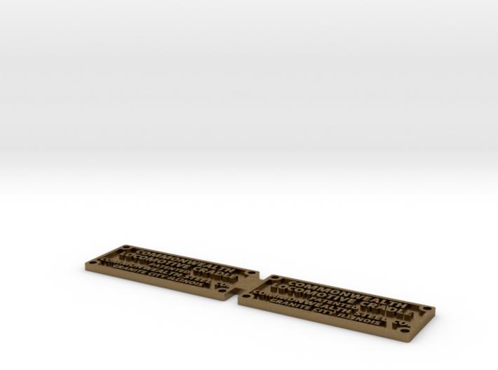 Commonwealth cradle builder plate 3d printed