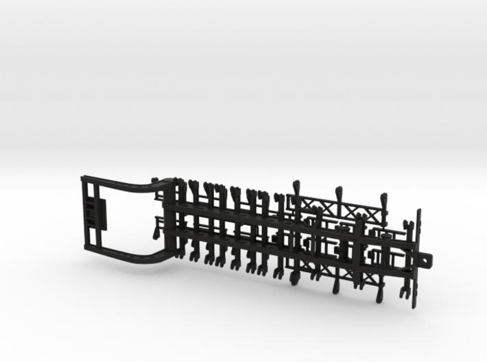 2 Axle Single Combine Trailer 3d printed