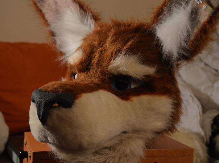 Kangaroo Mask Base 3d printed Finished Product