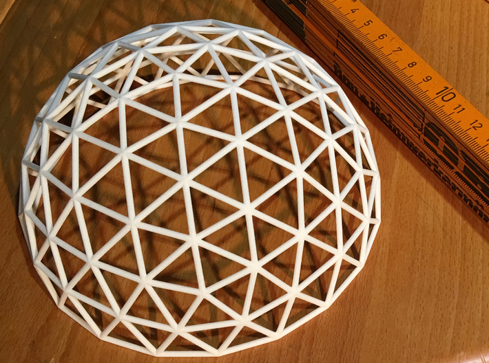 Geodesic Dome 3d printed photo of the printed model