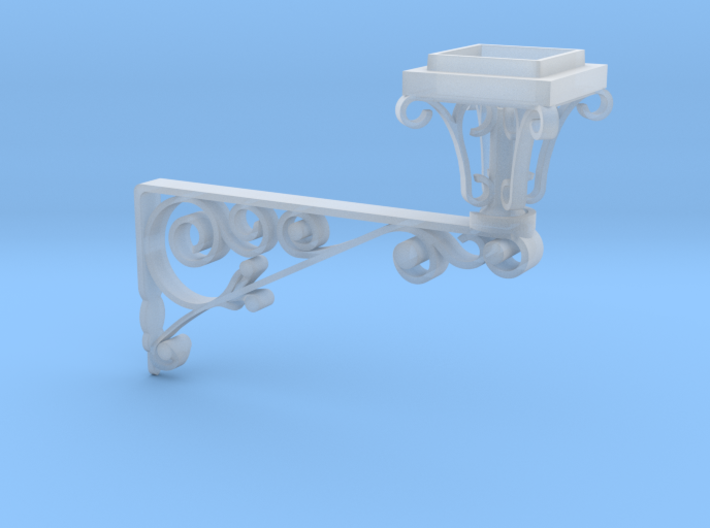 Wrought iron Street Lamp 3d printed