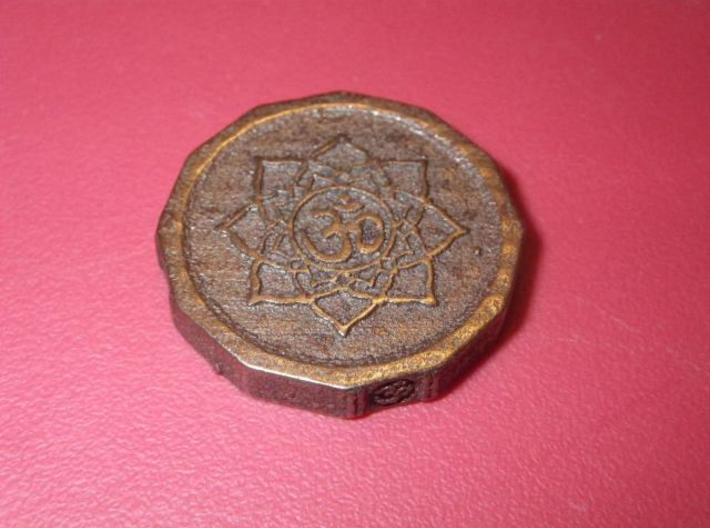 Aum Coin 3d printed Made in Antique Bronze Matte