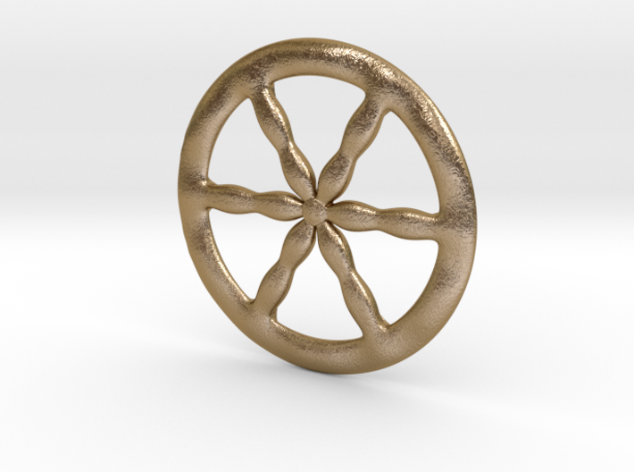"Ancient celts pendant ""Battle charioteer's wheel"" 3d printed"