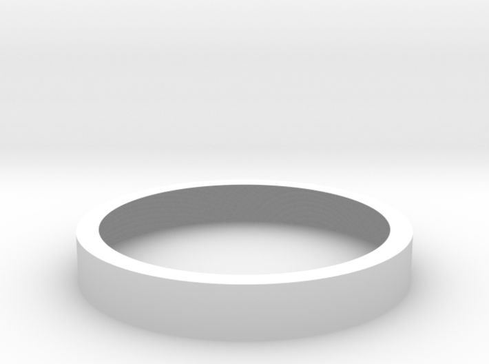 Simple Silver Ring 3d printed