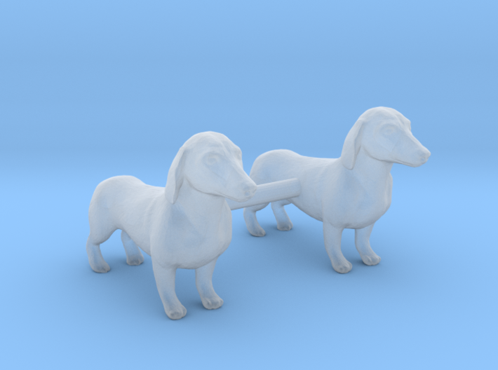 Dachshunds 3d printed