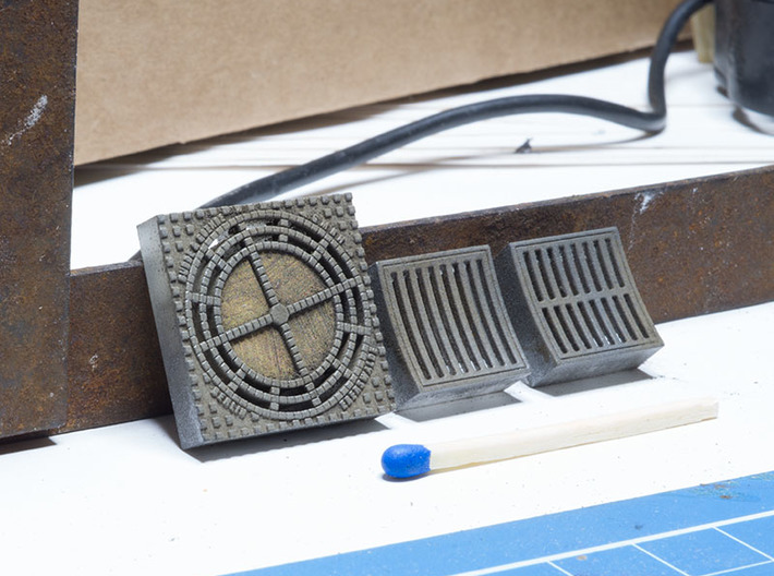 Schachtdeckel (manhole cover) 1:32 3d printed
