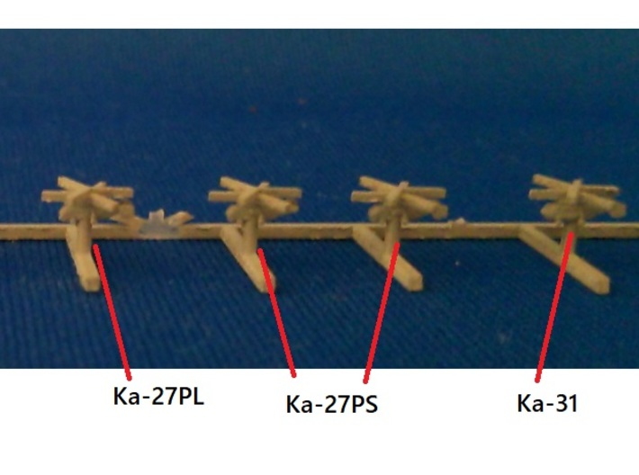 1/1800 Russian Navy aircraft set No.2 3d printed The photo is 1/2000.