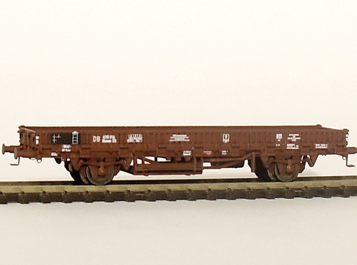 2152 1/148 German train-ferry wagon, 40t-glw low 3d printed painted model with additional parts and painted model with additional parts and lettering