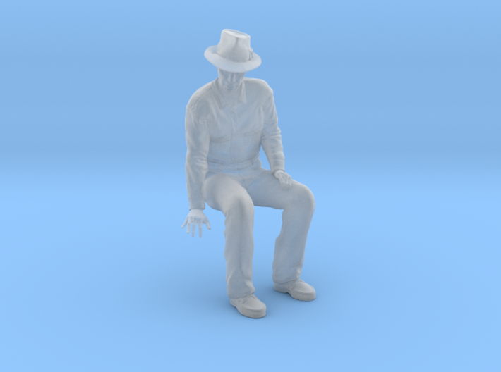 SE Fred sitting on bench with hat 3d printed