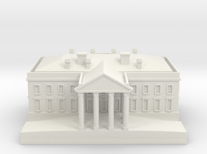 1/700 The White House for Diorama 3d printed