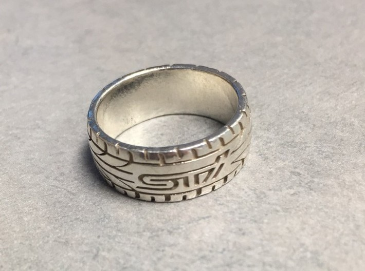 Subaru STI ring - 16.5 mm (US size 6) 3d printed
