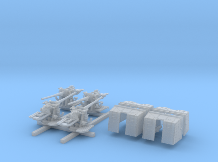 "1/350 4.7""/45 QF MK IX CPXVII Guns Ports Closed x4 3d printed 1/350 4.7""/45 QF MK IX CPXVII Guns Ports Closed x4"