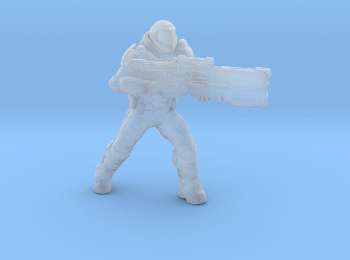 doomguy doom slayer 28mm heroic scale miniature 3d printed