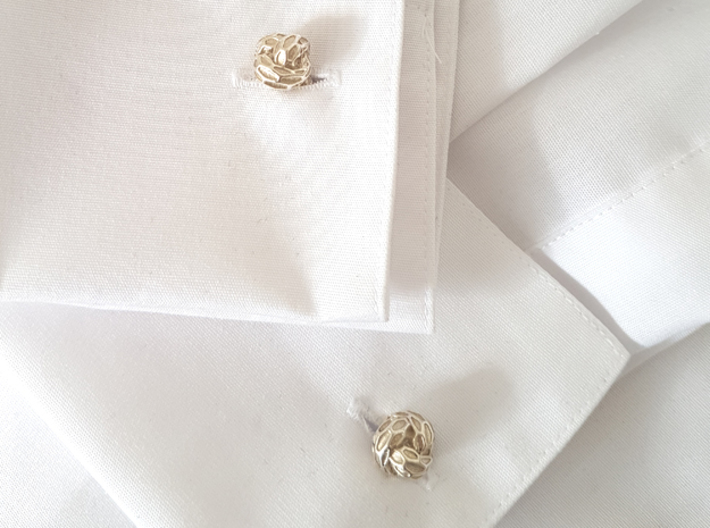 Little Dragon, Cufflinks. Pure, Strong. 3d printed