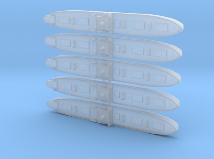1/2400th scale 5 x WW2 Liberty ship 3d printed