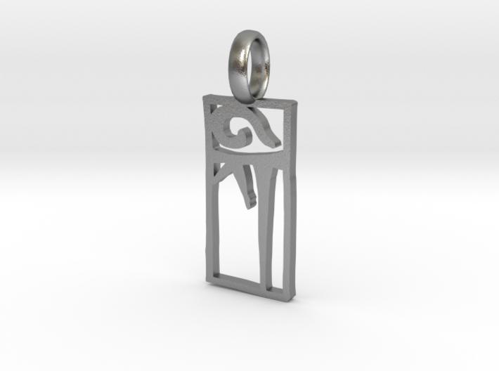 Ki Pendant Small 3d printed Small Ki Pendant in Raw Silver