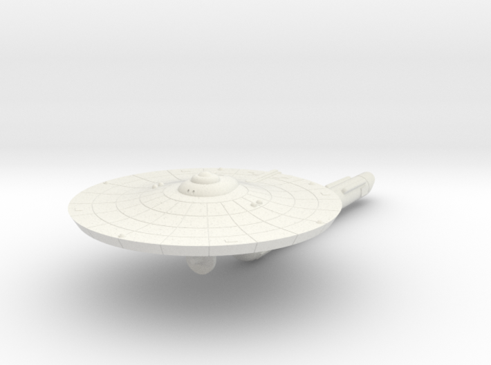 3125 Scale Franz Joseph Federation Destroyer (DD)  3d printed