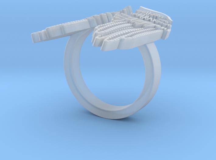 Angel Wings - Ring 3d printed